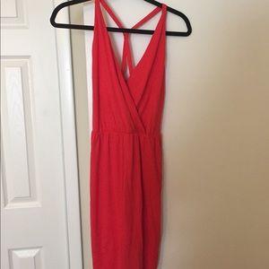Red racer back dress